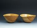 "Apricot Bowls, each 5"" diameter"