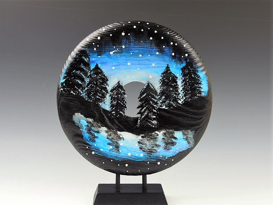Ponderosa Pine: Winter's Night